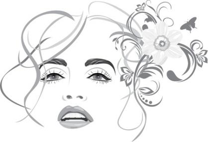 13613907 - portrait of beautiful woman. fashion hairstyle
